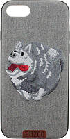 Чехол-накладка PUZOO TPU+TPU with stitchwork craft Ballon Dog iPhone 7/8 Gray, фото 1