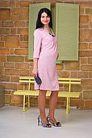 """Демисезонное трикотажное платье для беременных и кормящих """"В розовом свете"""" р. 44 ТМ NowaTy Розовый 16010103, фото 1"""