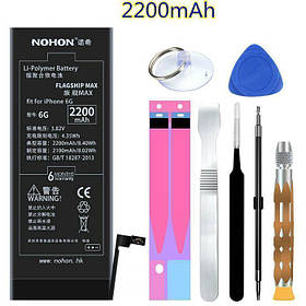 Аккумулятор Nohon 616-0807 Apple iPhone 6 (ёмкость 2200mAh)
