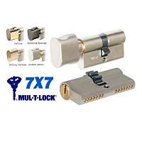 Цилиндр дверной MUL-T-LOCK 7х7 ключ-ключ, ключ-тумблер