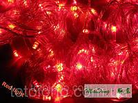 Гирлянда LED красная 100 лампочек