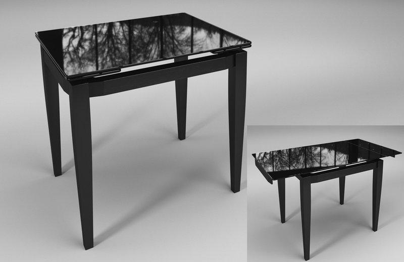 Стол обеденный Тореро Черный+Черный (Sentenzo TM)
