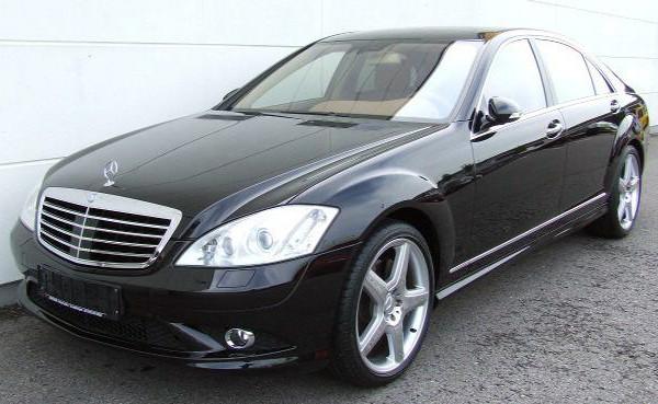 Лобовое стекло Mercedes w221 седан, с датчиком, е/о дворников, НР, PGW, б/у
