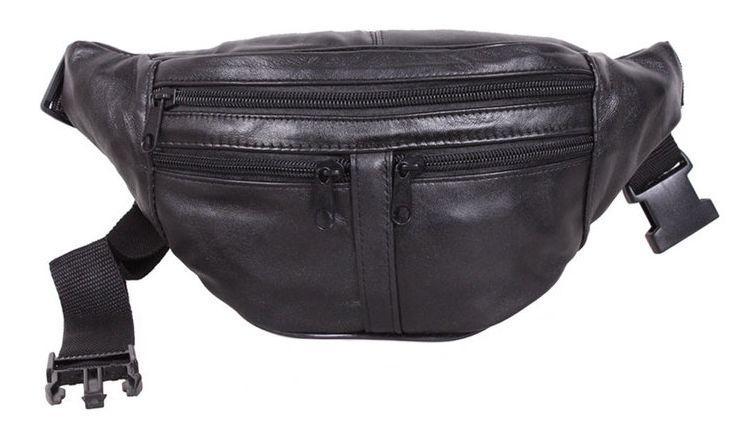 Шкіряна поясна сумка Sw903-1 чорний