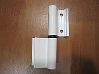 Петля для алюминиевых дверей четверть белая