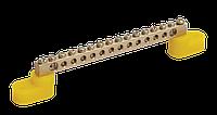 Шина PE Земля на двух угловых изолятор ШНИ-6х9-8-У2-Ж IEK, фото 1