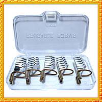 Формы серебро многоразовые для наращивания ногтей, Набор из 5 форм.