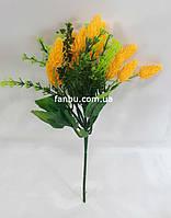 Желтый лиатрис 24см,искусственный куст, фото 1