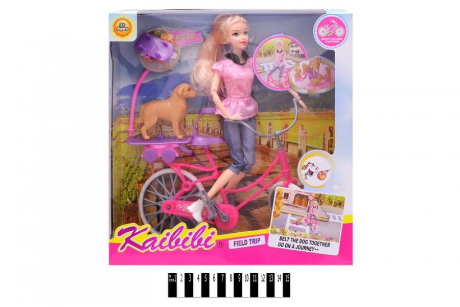 Кукла на велосипеде с собачкой Каibibi BLD144, барби ...