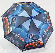 """Детский зонтик для мальчика с машинками и мотоциклами на 4-8 лет то фирмы """"Flagman"""""""