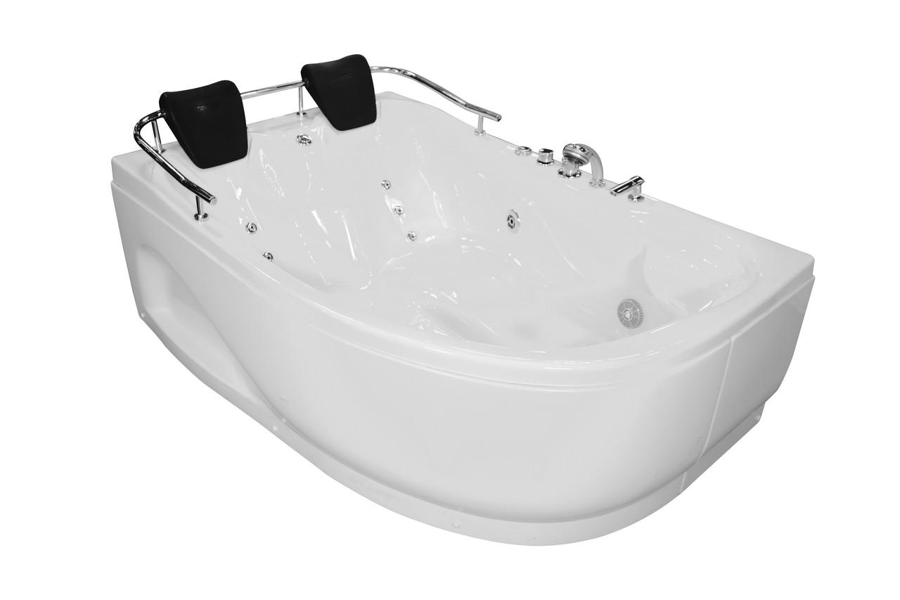 Ванна угловая без гидромассажа 1800*1240*660 мм, левая