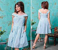 Платье лен в расцветках 25081, фото 1