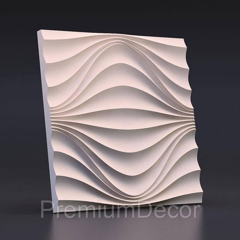 Гипсовые 3Д/3D панели КРУГОВАЯ ВОЛНА
