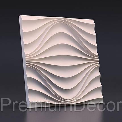 Гипсовые 3Д/3D панели КРУГОВАЯ ВОЛНА, фото 2