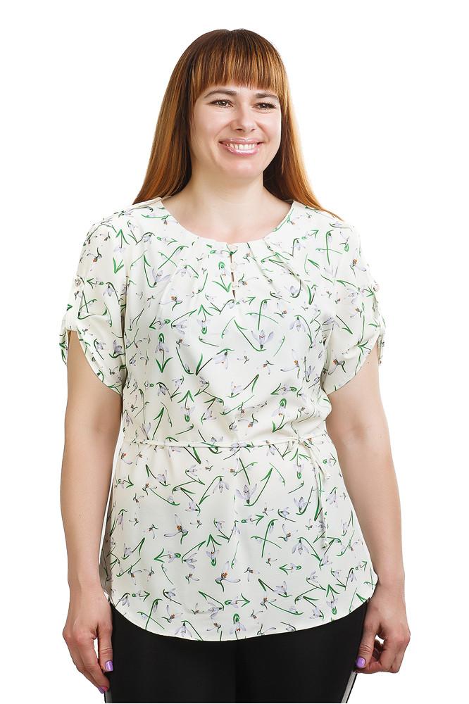 Стильная блуза с подснежниками Бл-426