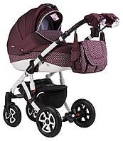 Детская универсальная коляска 2 в 1 Adamex Erika Len 349W, бордовая, фото 1