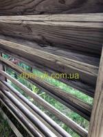 Металлический забор Жалюзи ламель ЭКО Тип-А Античный дуб Комби, фото 1