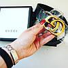 Ремень Gucci кожаный черный 3,7 см  в коробке, фото 4