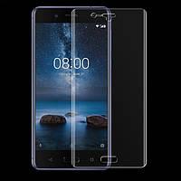 Защитное стекло на весь экран Nokia 8 (изогнутое) (Нокиа 8)