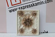 Изразцовая плитка «РОМАШКА» слоново-коричневая