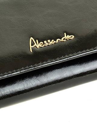 Кошелек Canarie кожа ALESSANDRO PAOLI W501 black, фото 2