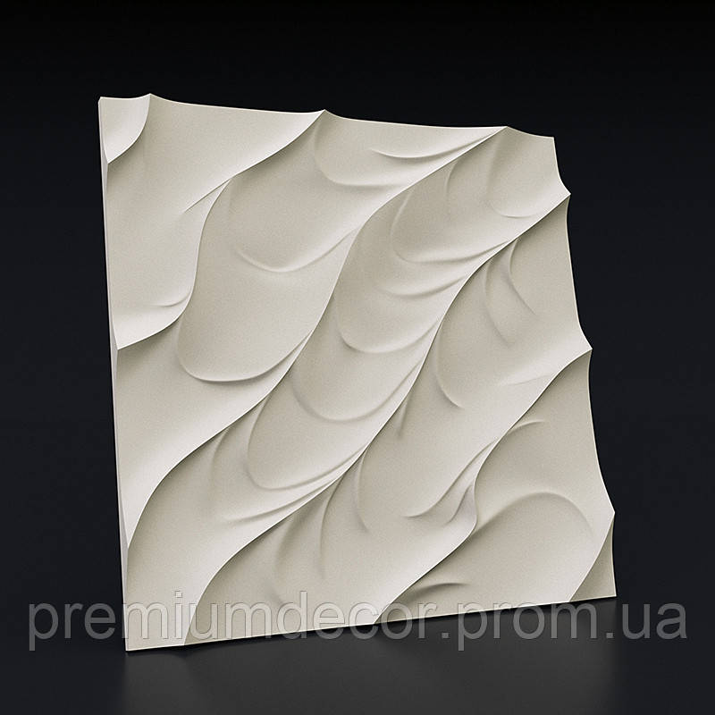 Гипсовые 3Д/3D панели ВОЛНА КАНОЭ