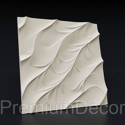 Гипсовые 3Д/3D панели ВОЛНА КАНОЭ, фото 2