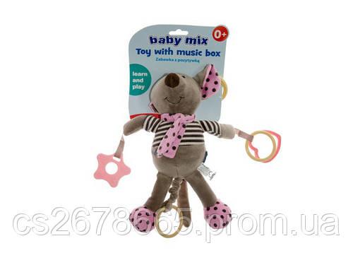 Подвеска музыкальная Мышка розовая 2831 Baby Mix