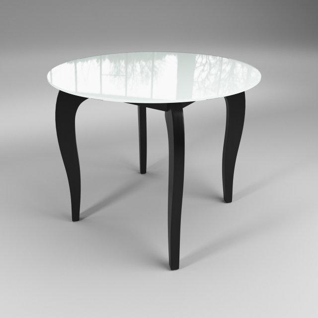 Стол обеденный стеклянный Император Круг Контраст Бело-черный (Sentenzo TM)