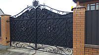 Ворота откатные кованые №11