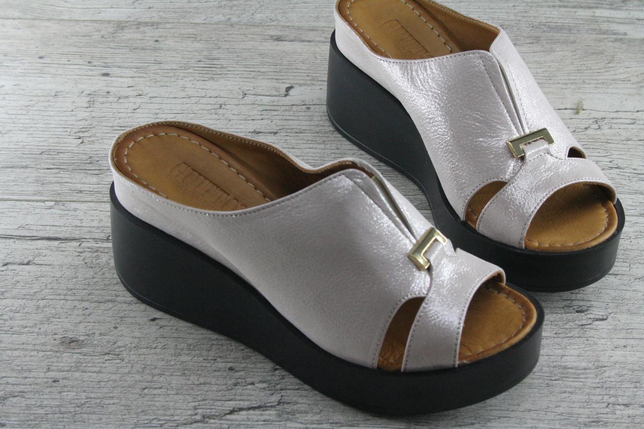 Шлепанцы, сланцы, сабо женские Guitto, обувь летняя из натуральной кожи, Турция