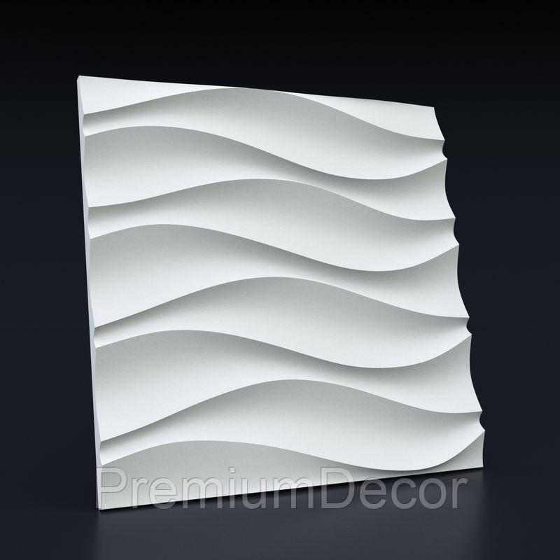 Гипсовые 3Д/3D панели ВОЛНА СИММЕТРИЧНАЯ