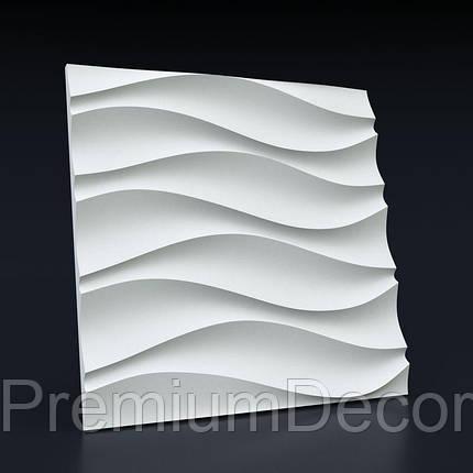 Гипсовые 3Д/3D панели ВОЛНА СИММЕТРИЧНАЯ , фото 2