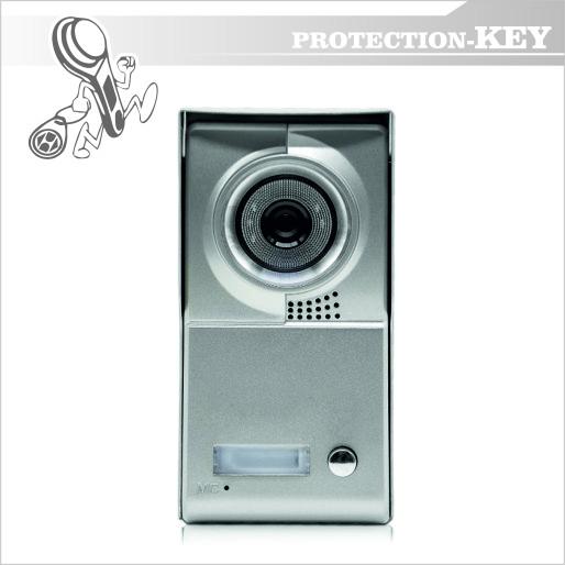 Видеопанель Defender PK 208 (1-абонентная) Silver