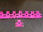 Бумажная гирлянда-растяжка Мишки Тедди розовая 3,5 метра