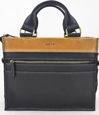 Мужская сумка из натуральной кожи VATTO Mk45.2 Kr670.190, черный