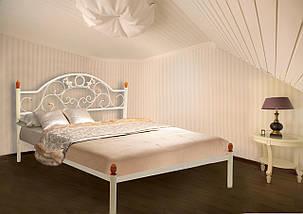 Кровать Франческа белая 160*190 (Металл дизайн), фото 2
