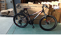 Горный велосипед Azimut Forest 24 дюйма. Дисковые тормоза. Черный