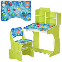 Парта детская регулируемая с надстройкой и стульчиком BAMBI B 2071-23