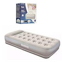 Надувная кровать bestway одноместная с электронасосом
