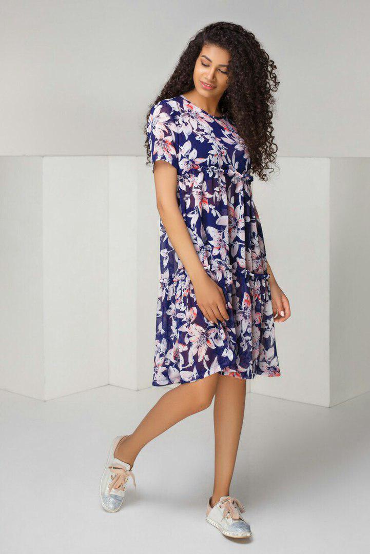 a4bd94595d4a629 Летнее шифоновое платье свободного кроя в комплекте с шортиками арт 5430-6,  цена 490 грн., купить в Одессе — Prom.ua (ID#711838041)