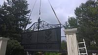 Ворота откатные кованые №13