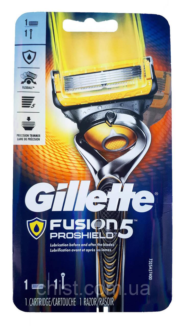 Gillette станок Fusion ProShield с 1 запаской (1 шт.) карта USA
