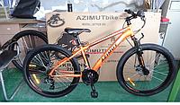 Горный велосипед Azimut Fox 24 GD. Дисковые тормоза. Оранжевый, фото 1