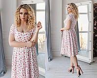 41f6906ce32 Легое повседневное летнее женское платье с красивым декольте. 4 цвета.  Размеры   48