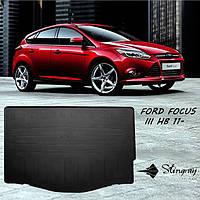 Ford Focus III HB 2011- Коврик Черный в багажник