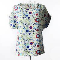 "Блуза с коротким рукавом ""пузыри синие"" Liva Girl"