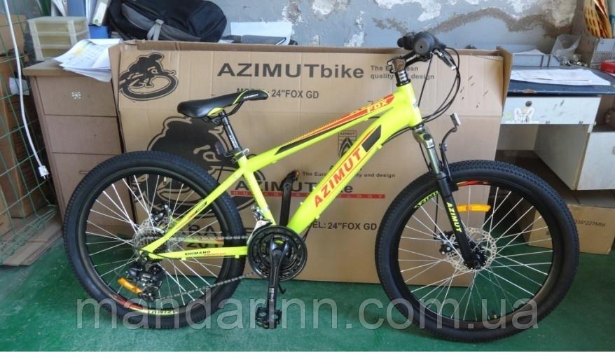 """Гірський велосипед Fox FR Azimut 26"""". Дискові гальма. Жовтий"""
