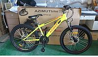 """Гірський велосипед Fox FR Azimut 26"""". Дискові гальма. Жовтий, фото 1"""