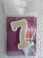 """Свічка на торт цифра """"7"""""""